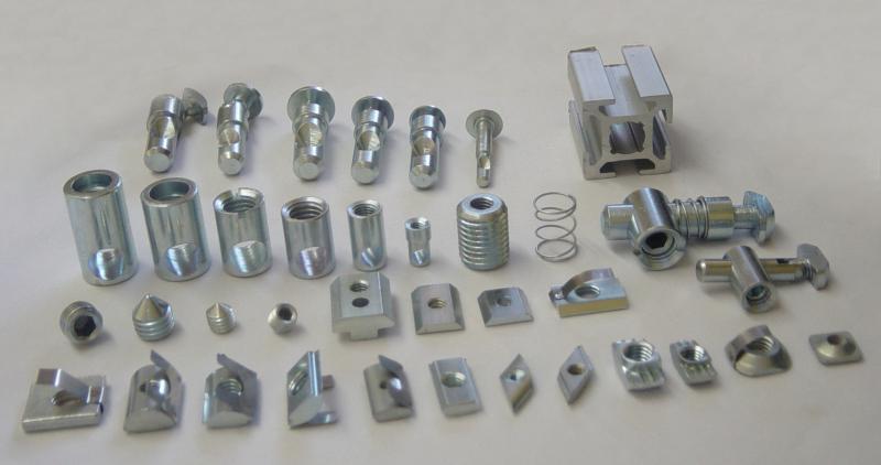 Conector perfil estrutural de alumínio